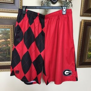 UGA Georgia Bulldogs Loudmouth Argyle Shorts 2XL